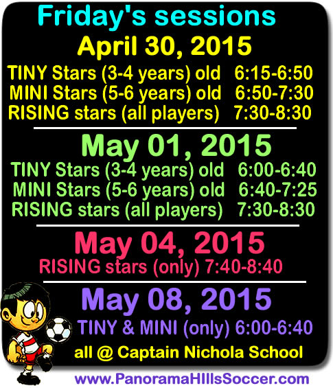 final-soccer-schedule-panoramahills-soccer-stars-timbits-friday-2015