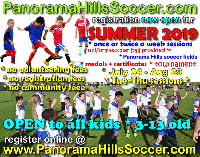 NW SUMMER SOCCER for kids, panorama hills